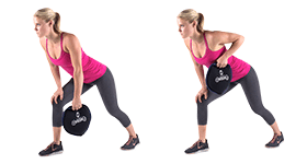SandBell Exercises - Bent Over Row