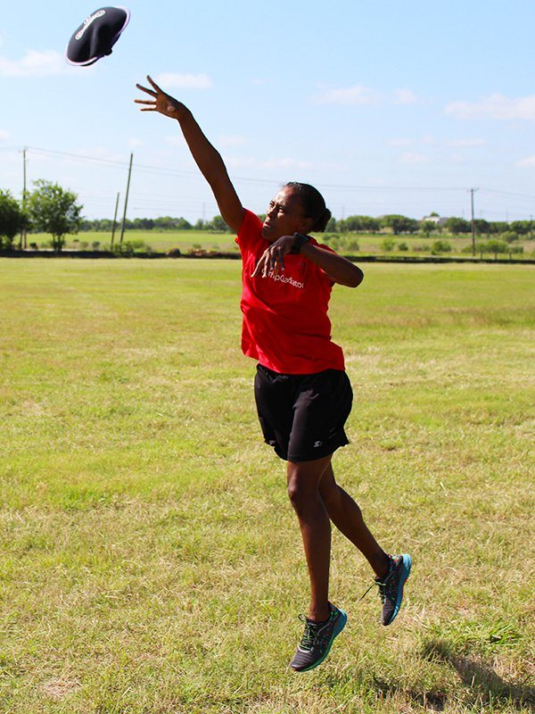 Marion Jones SandBell Toss