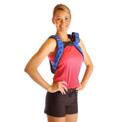 woman wearing holster weight vest