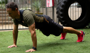 home gym workout routine push up