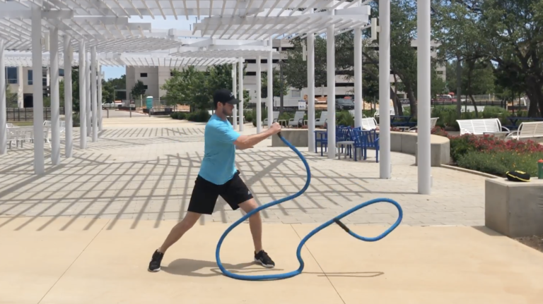 muscular endurance with the hyper rope